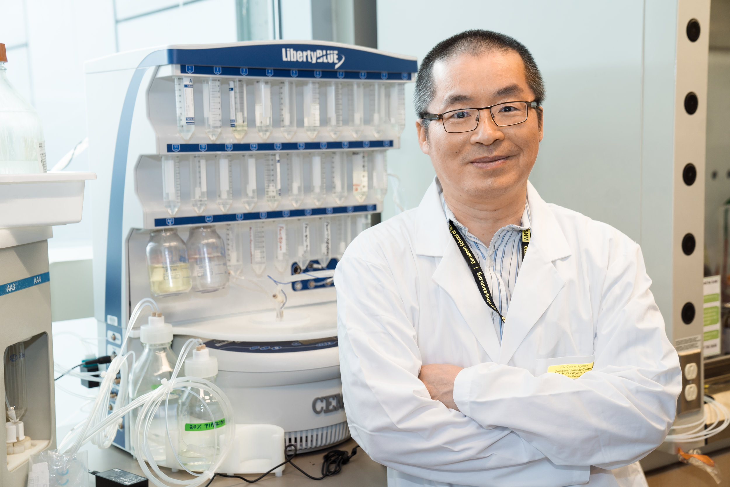 Dr. Kuo-Shyan Lin is currently an Associate Professor in the Department of Radiology at UBC, and a Senior Scientist in the Department of Molecular Oncology at BC Cancer. He also heads the Radiochemistry Program at the BC Cancer Research Centre of Excellence for Functional Cancer Imaging.