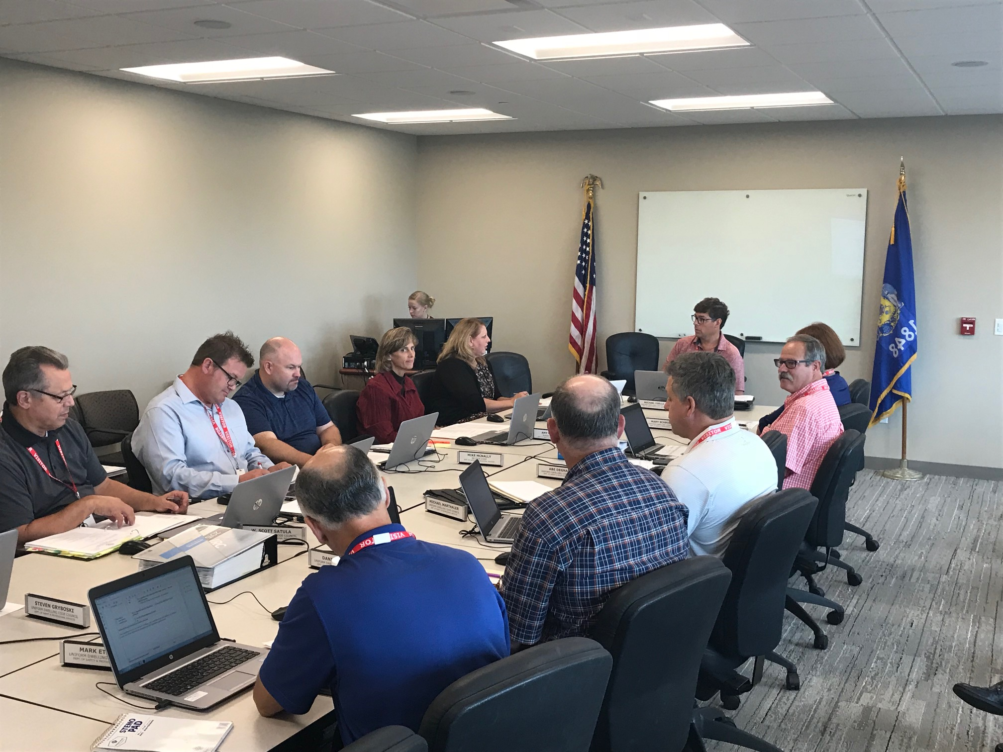 uniform dwelling council meets & re-elects WBA members