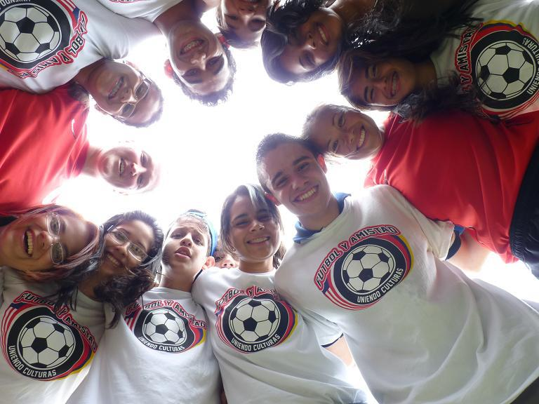 Sports Envoys and former U.S. Women's National Team members Lorrie Faire and Siri Mullinix share lessons with youth in Venezuela on the importance of gender equity in sports, through the U.S. Department of State's Empowering Women and Girls Through Sports Initiative. 2012