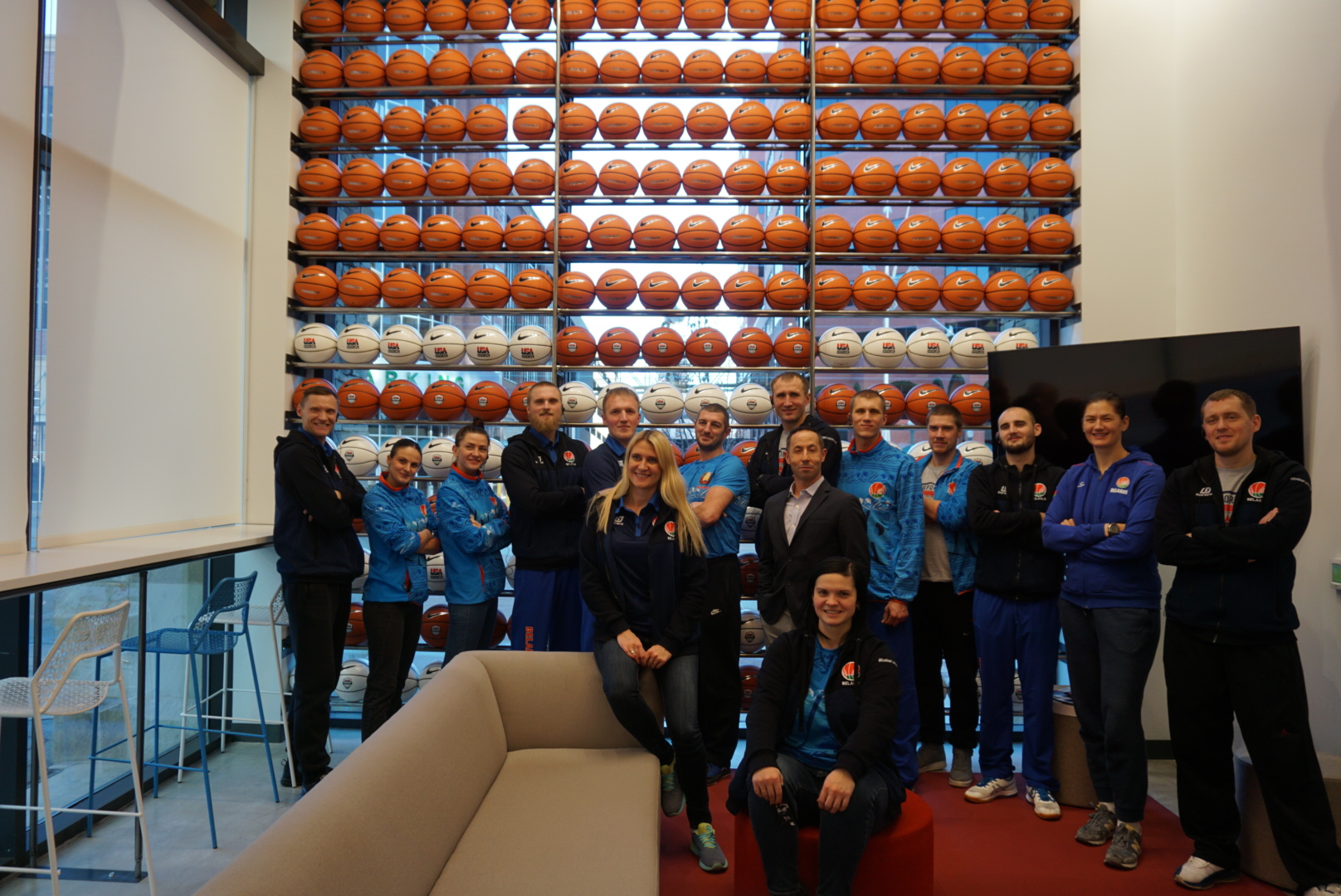 Sports Visitors from Belarus visiting USA Basketball, 2018.