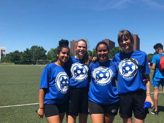 Year # 2: Soccer and ESL Camp - On August 3, 2019, 40 international visitors, consisting of 35 youth and 5 chaperones, from Algeria, Belarus, Belgium, Czech Republic, Mexico, Nigeria, and Saudi Arabia arrived at Boston Logan Airport to begin the U.S. Department of State Sports Visitor Youth Soccer + ESL program. The program aims to develop English language capacity and leadership skills among the youth non-elite athletes using sport, particularly soccer, as a vehicle.