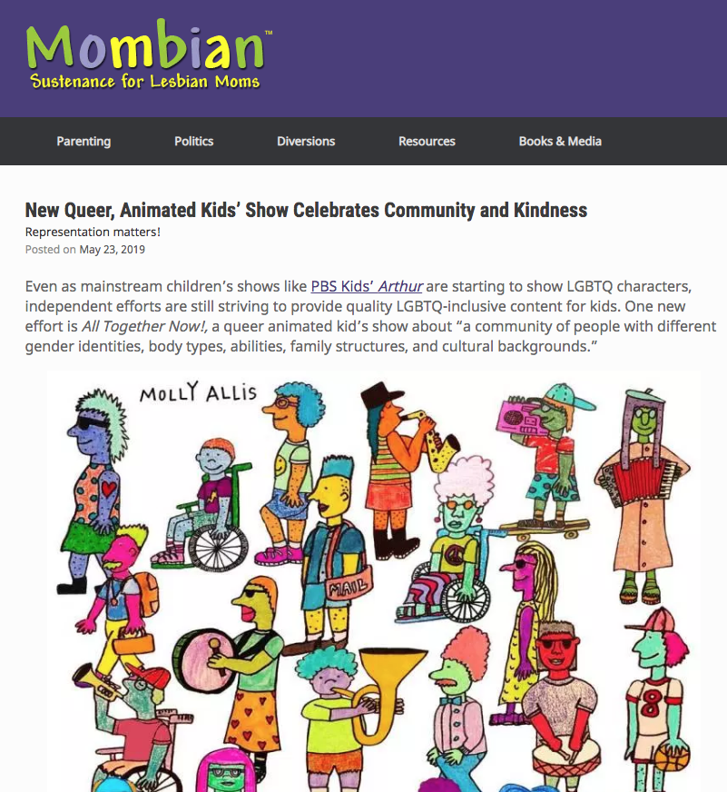 Interview with LGBT parenting blog, Mombian