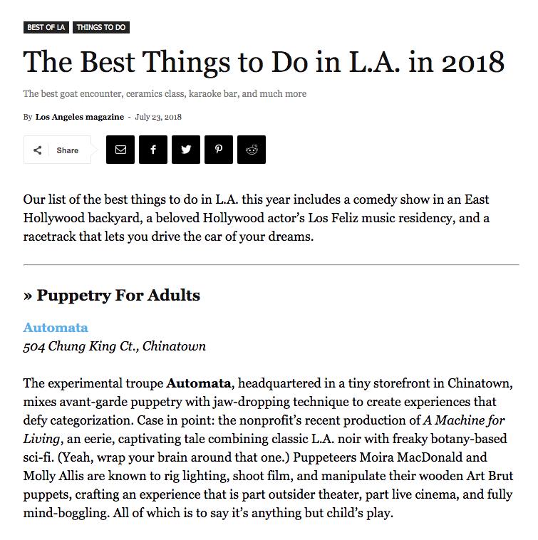 Article in LA Magazine