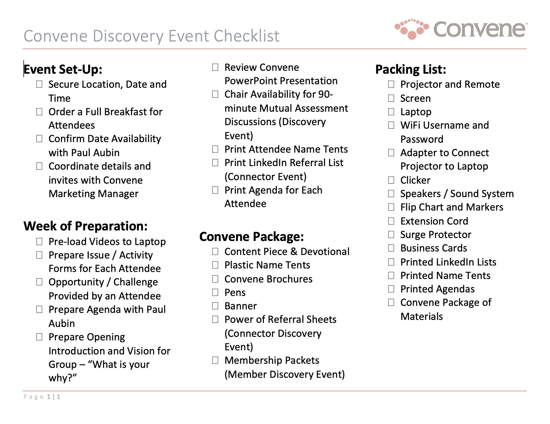 discovery-event-checklist