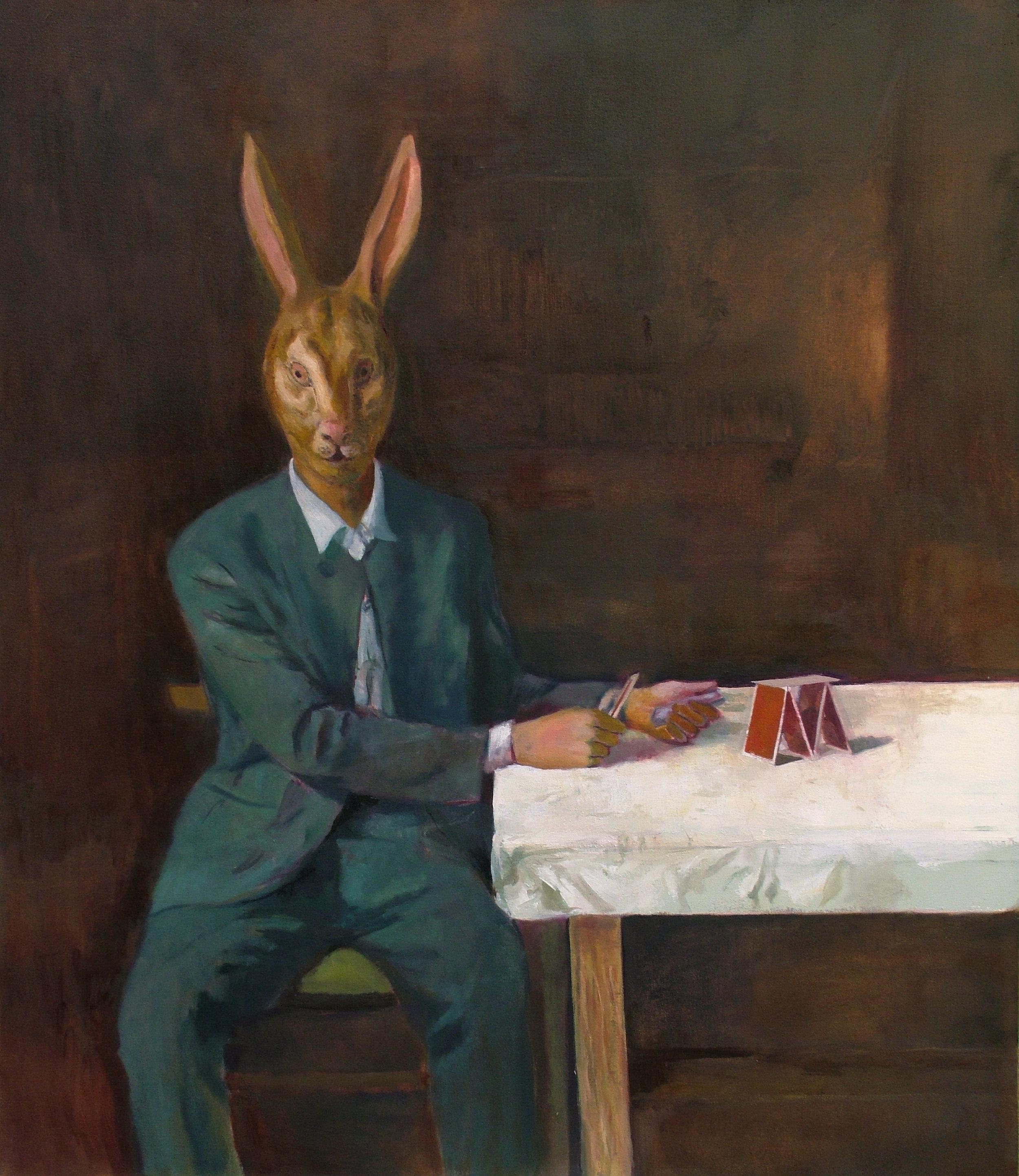 """""""Rabbit Man"""" 2007   Oil on canvas"""