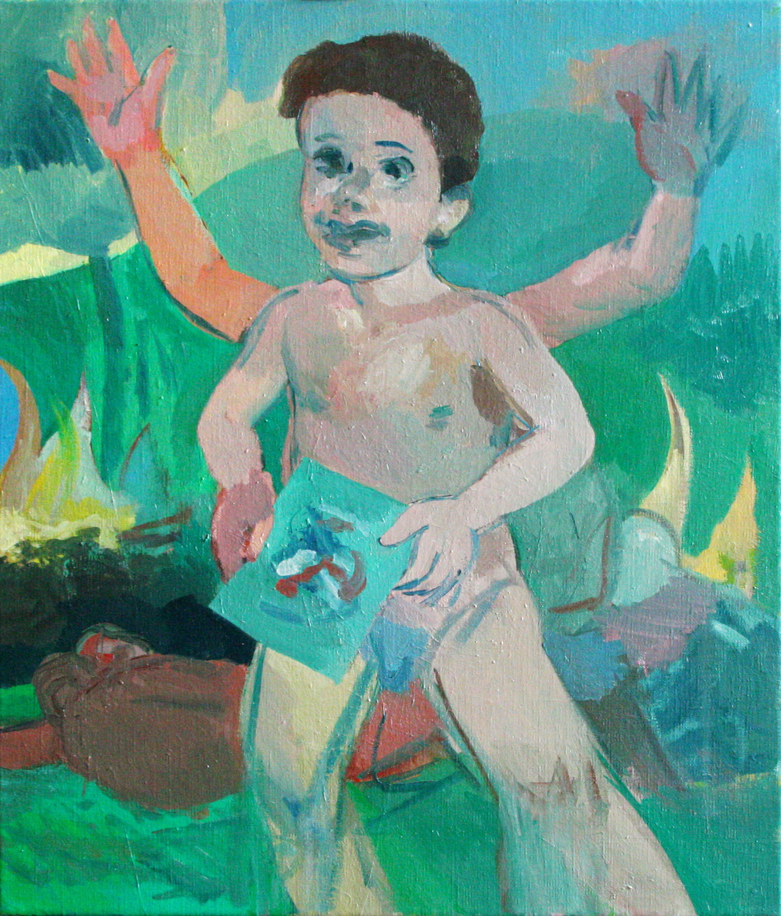 """""""Happy Boy"""" 2012   Oil on canvas. 70 x 50 cm"""