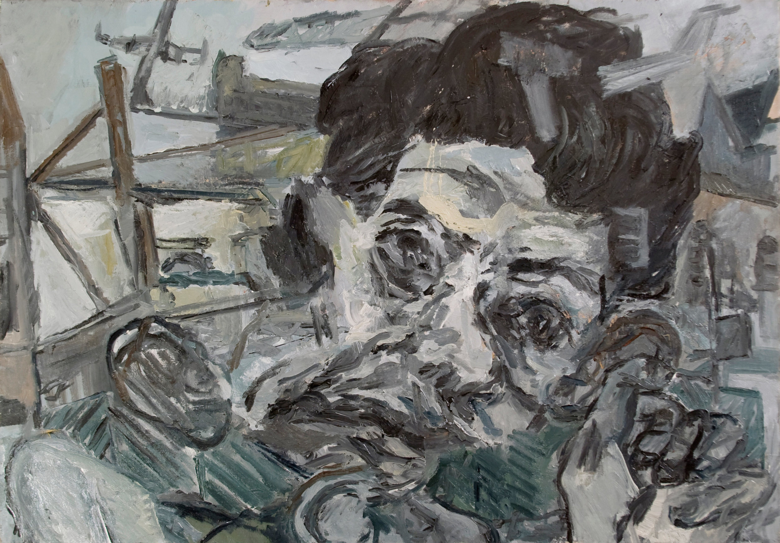 """Talking Head""2014   Oil on canvas. 100 x 70 cm"