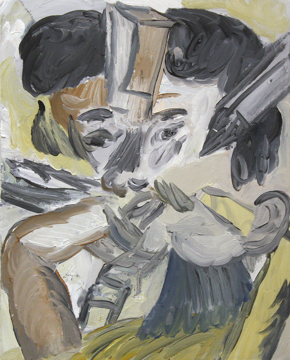 'Different registers' 2017   Oil on linen. 58 x 46 cm