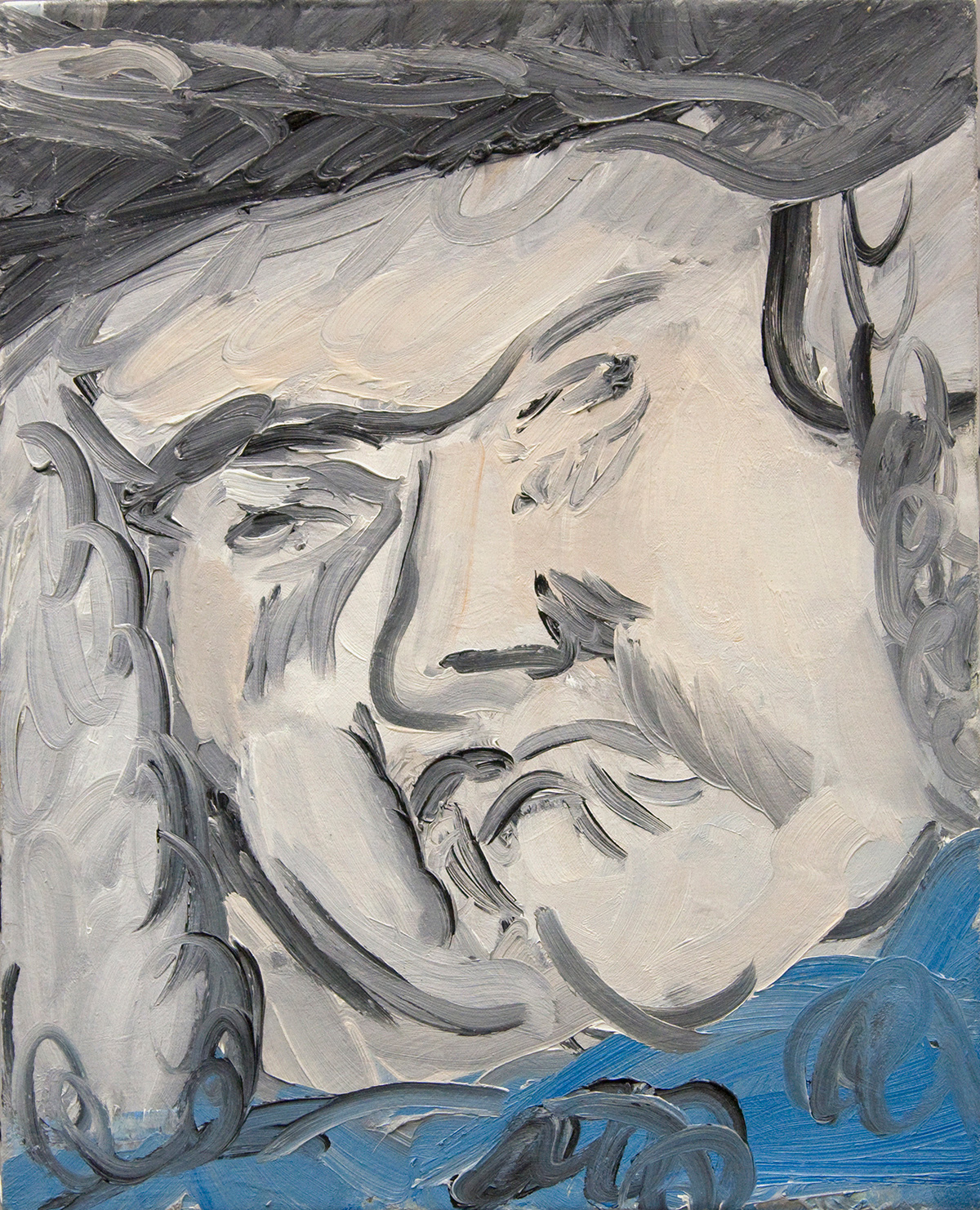 'Mr Krutz' 2016   Oil on canvas. 50 x 40 cm