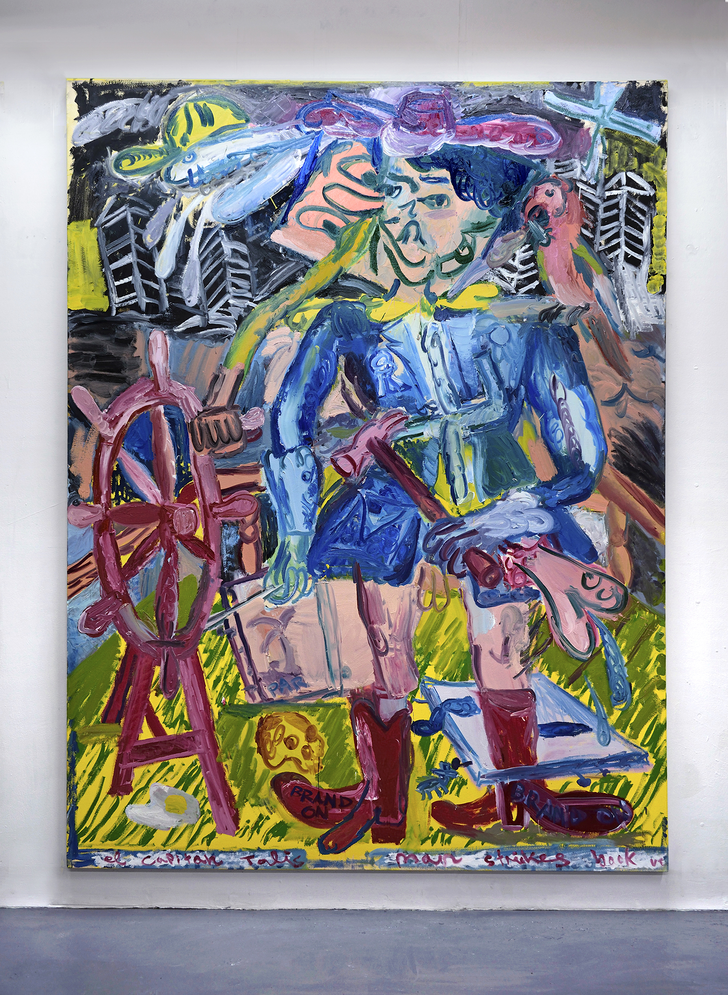 'El Capitan Talisman strikes back (Brand On)' 2019   Oil on canvas. 200 x 150 cm