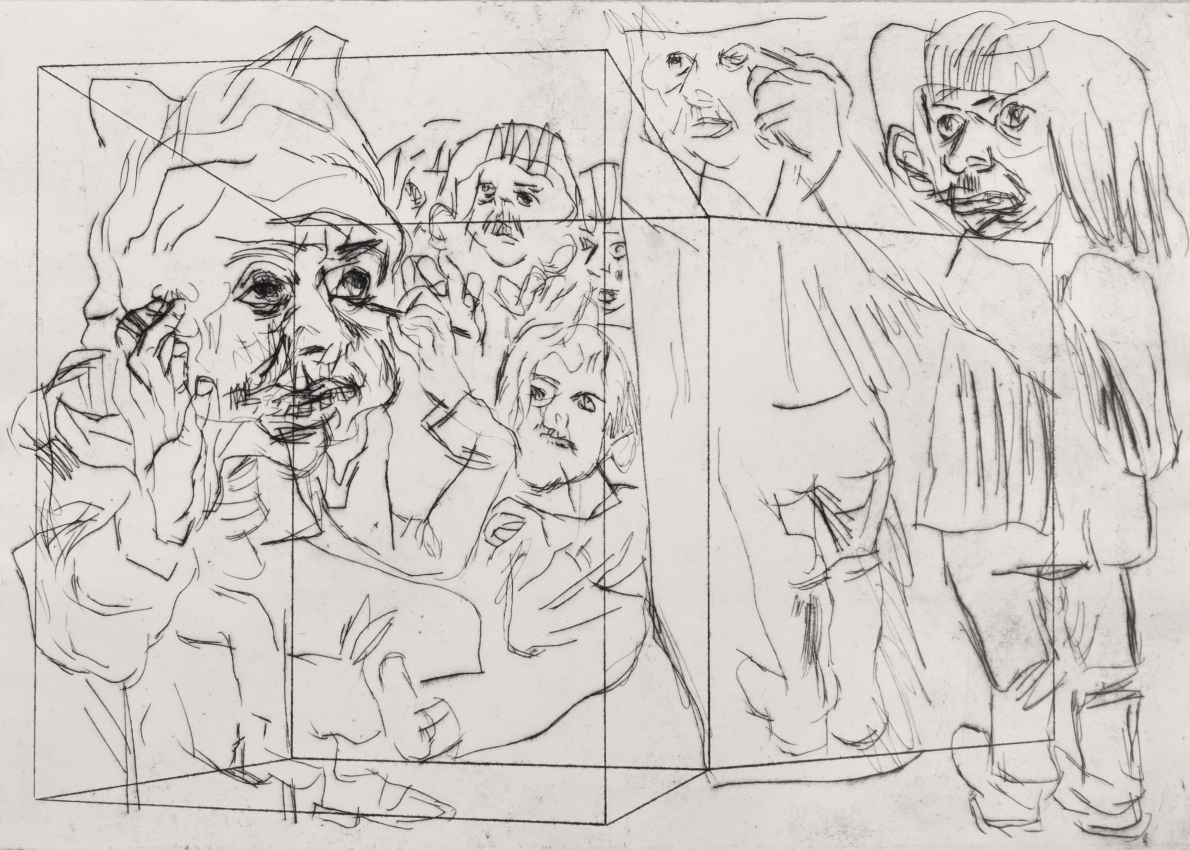 'Adolfa's Cave, First' 2014   Monoprint on paper. 30 x 40 cm