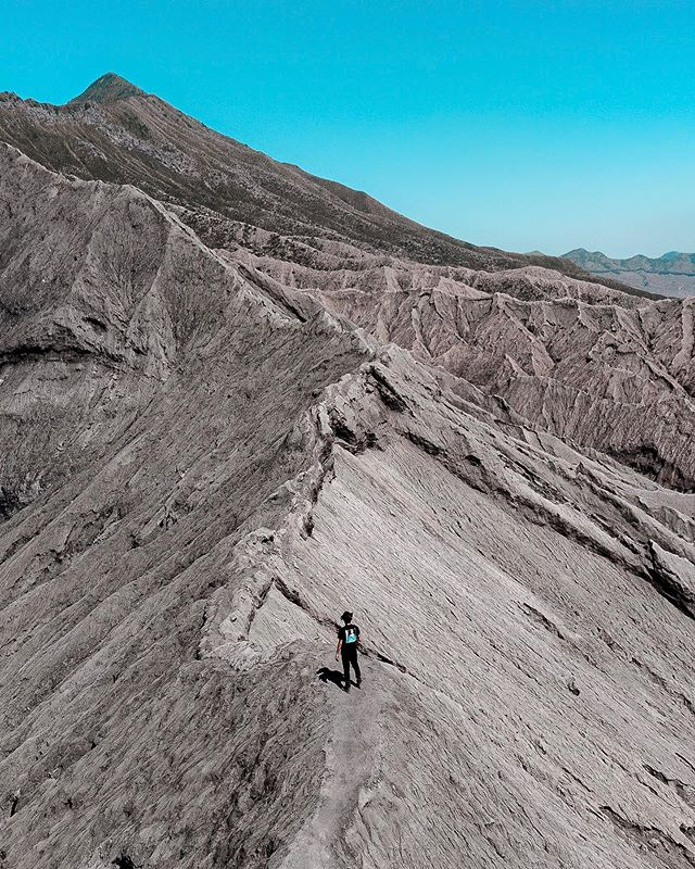 At the edge of Tengger Caldera, one of Indonesia's 127 active volcanoes.