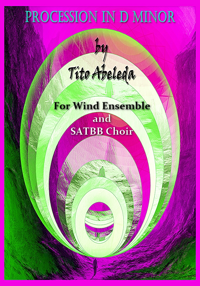 Procession in D Minor (for Wind Ensemble, Choir) music score