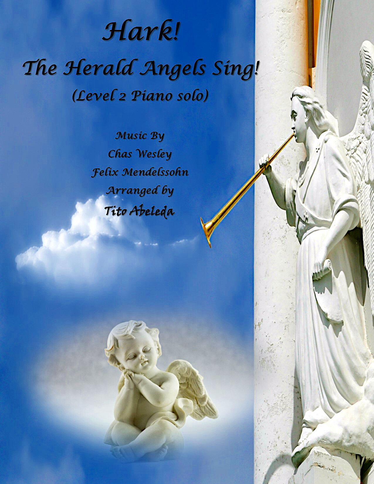 Hark! The Herald Angels Sing (Easy Piano Solo)