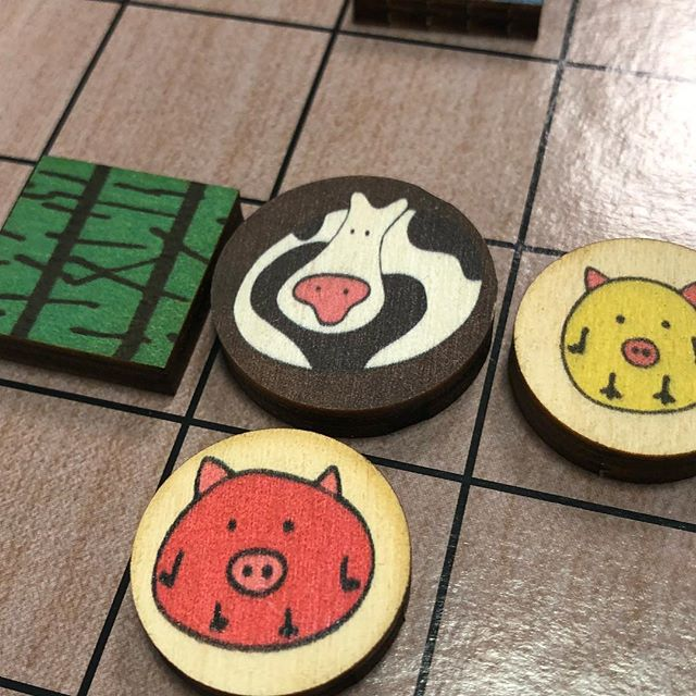 It's board game Tuesday night. #chickapig  is a fun strategy game with primary colors and poop. #boardgames @totalaccessgames