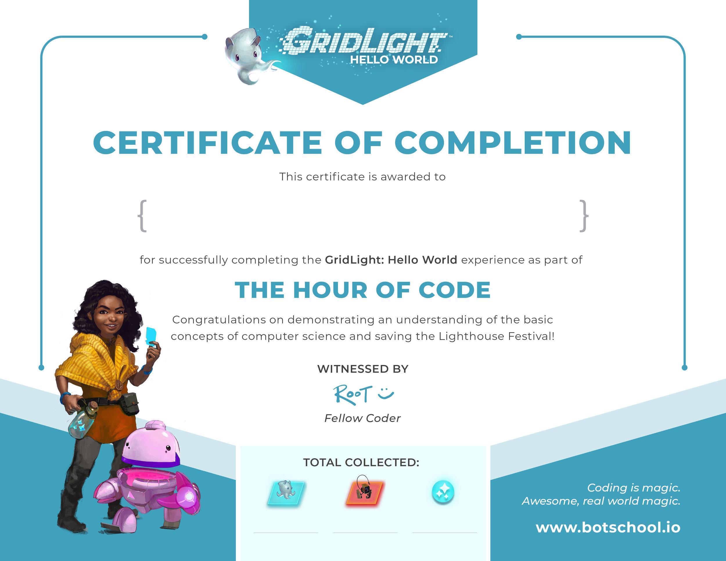 Certificate -- Pink Nab