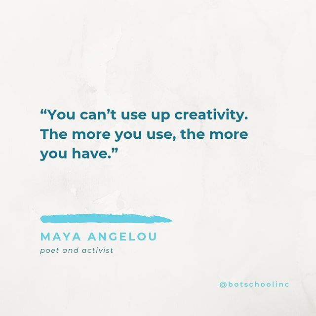 Creativity begets more creativity ♾ What inspires you to be creative? . . . #creativity #gamedesign #coding #codinggames #learntocode #poweringcreativity #computerscience #stemeducation #quotestoliveby #botschool #mayaangelou #mayaangelouquotes