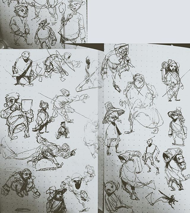 Another behind the scenes look -- here are some rough, early concepts of characters from the GridLight universe. .  If you made it to the final Lighthouse Ceremony of GridLight: Hello World, you can spot a couple of these characters in the crowd gathered around the Lighthouse! . . . #gamedev #gridlight #helloworld #hourofcode #characterdesign #pencilsketches #sketches #behindthescenes #gaming #learninggames #learntocode #codinggames