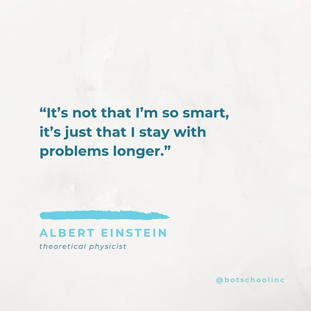 Monday motivation 🧐 . . . #problemsolving #grit #perserverance #curiosity #learning #learntocode #mondaymotivation #hourofcode #quotestoliveby #alberteinstein #botschool #gridlight
