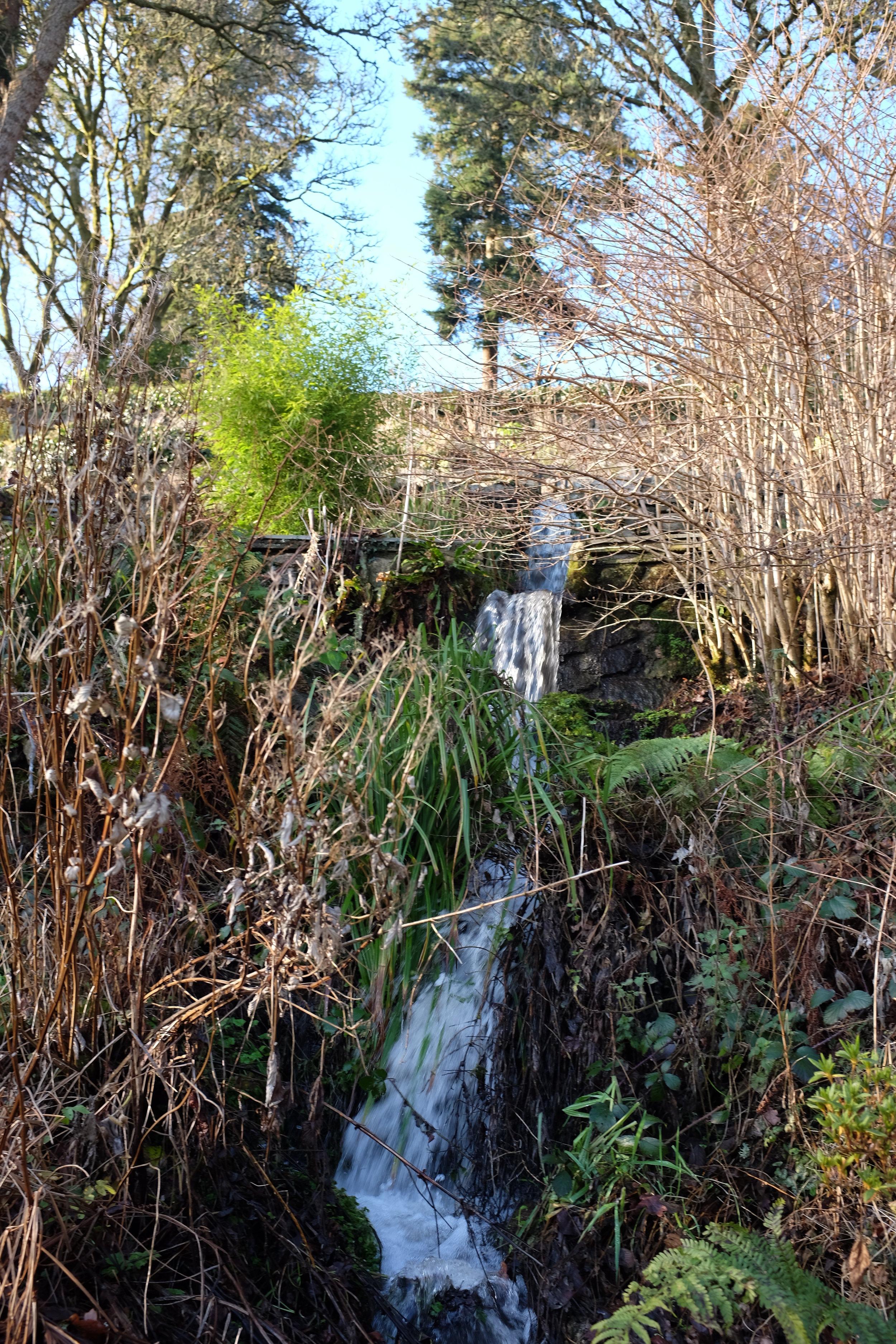 St Olaves waterfall garden in full flow
