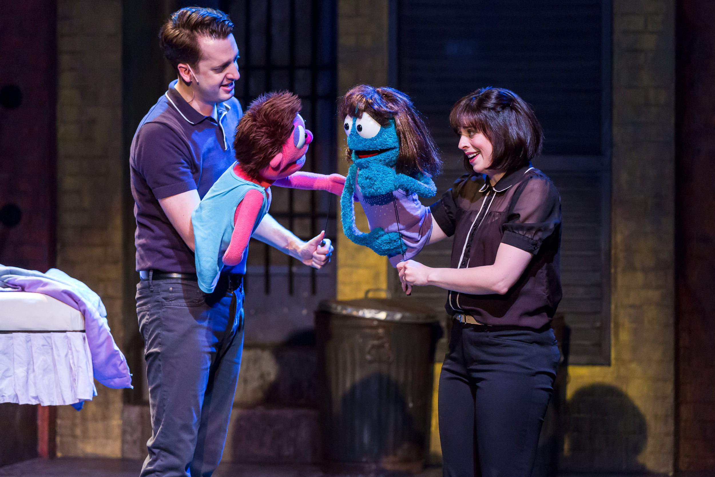 Mercury's Avenue Q '18 - Jackson Evans (Princeton) and Leah Morrow (Kate Monster).jpg