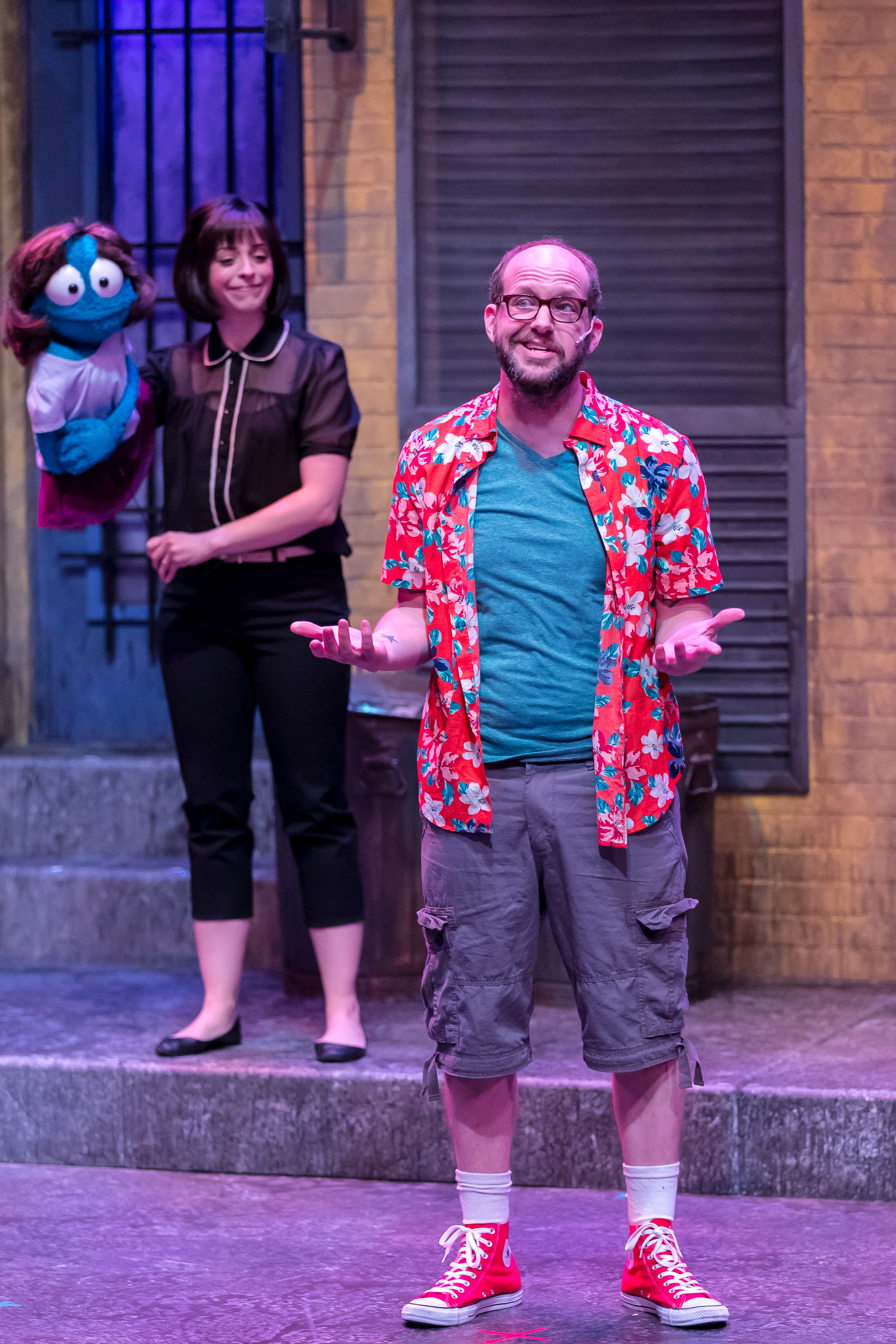 Mercury's Avenue Q '18 - Leah Morrow (Kate Monster), Matthew Miles (Brian).jpg