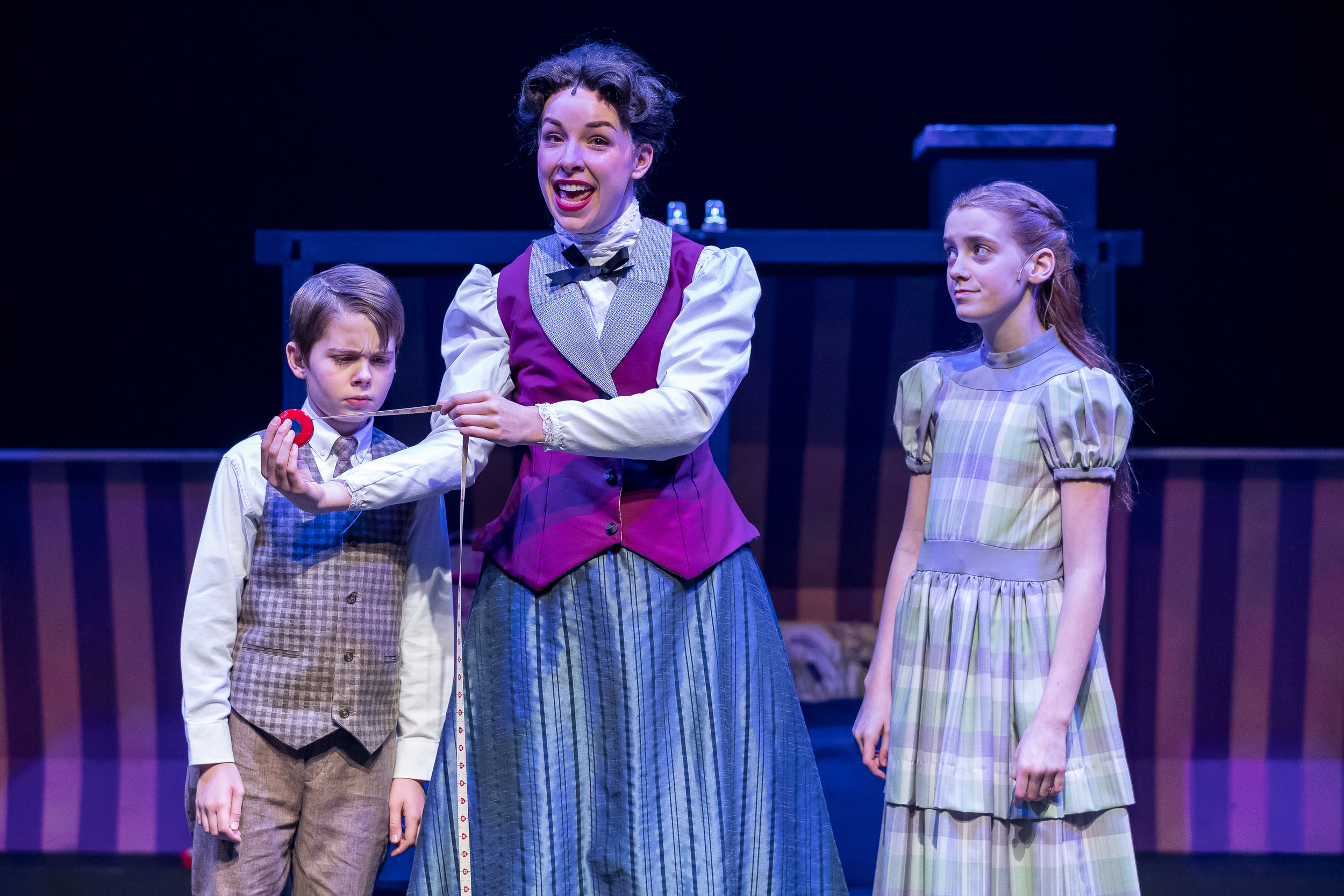 Mercury Theater, Mary Poppins - Casey Lyons (Michael), Nicole Armold (Mary Poppins), Pearle Bramlett (Jane) - Brett A. Beiner.jpg