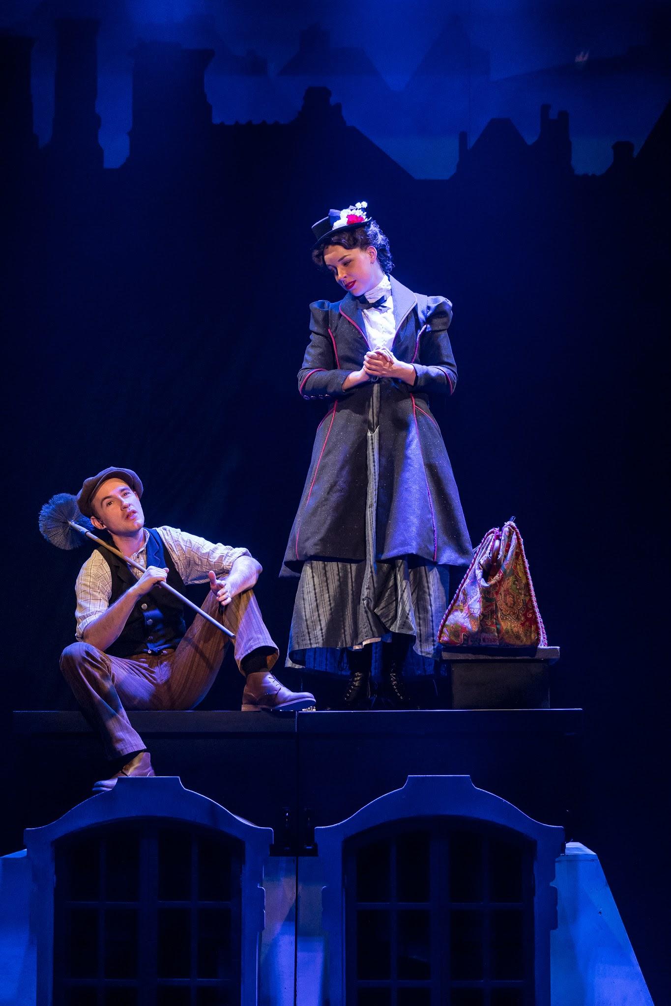 Mercury Theater, Mary Poppins - Matt Crowle (Bert), Nicole Armold (Mary Poppins) - Brett A. Beiner.jpg