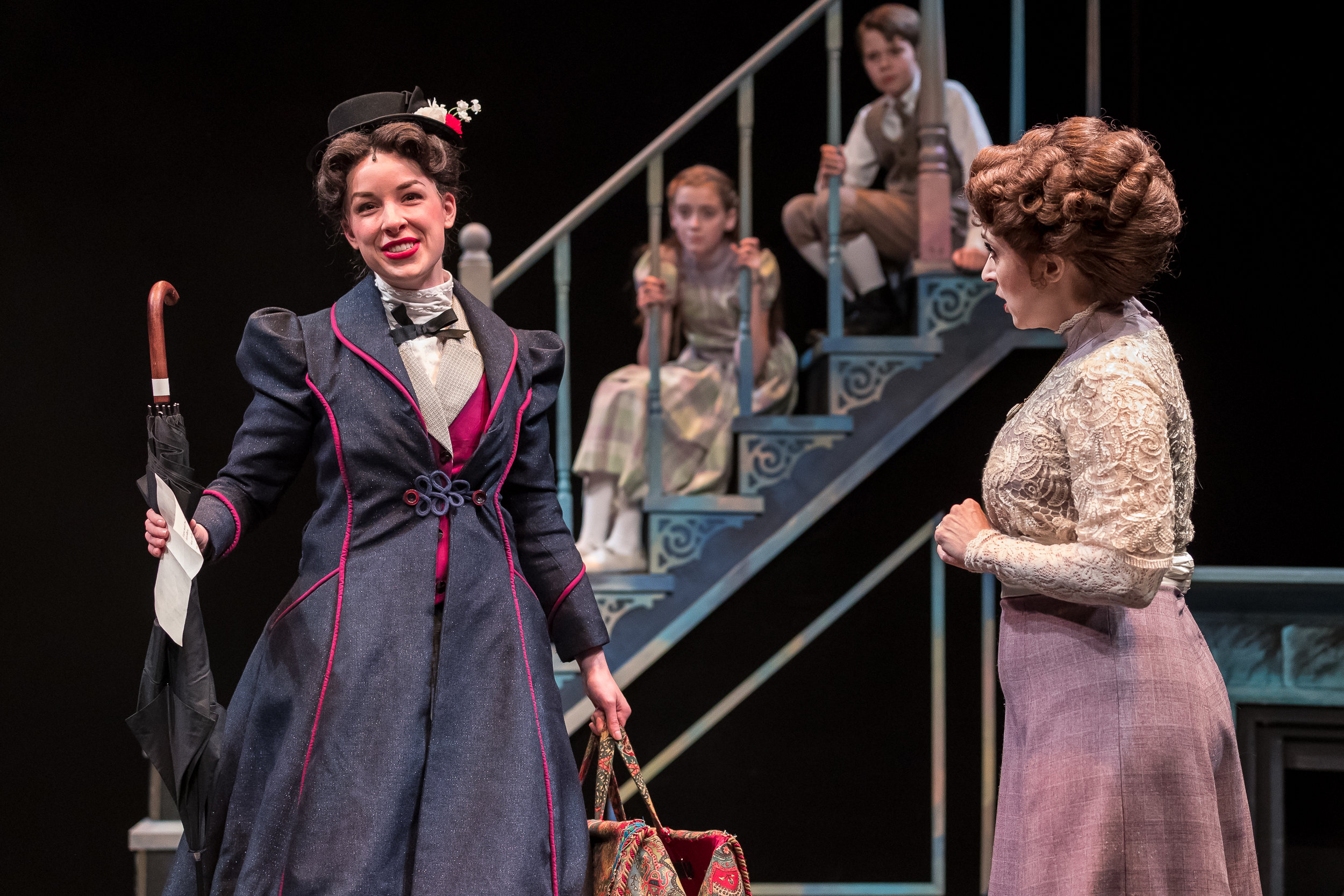 Mercury Theater, Mary Poppins - Nicole Armold (Mary Poppins), Pearle Bramlett (Jane), Casey Lyons (Michael), Cory Goodrich (Mrs. Banks) - Brett A. Beiner.jpg