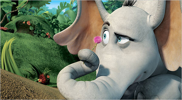 "Animated elephant Horton finds a speck of dust floating in the Jungle of Nool. Upon investigation of the speck, Horton discovers the tiny city of Who-ville and its residents, the Whos, which he can hear but cannot see. Horton forms a friendship with the mayor of Who-ville, Ned McDodd, and promises to transport Who-ville to safety. However, Horton encounters opposition from his jungle neighbours, who don't want to believe in the existence of Who-ville. Remember: ""A person's a person, no matter how small"""