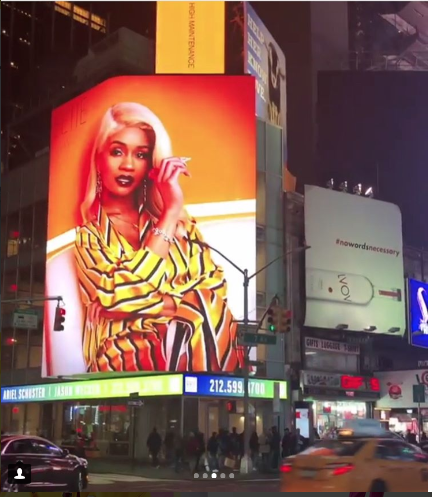 SAWEETIE IN TIMES SQUARE