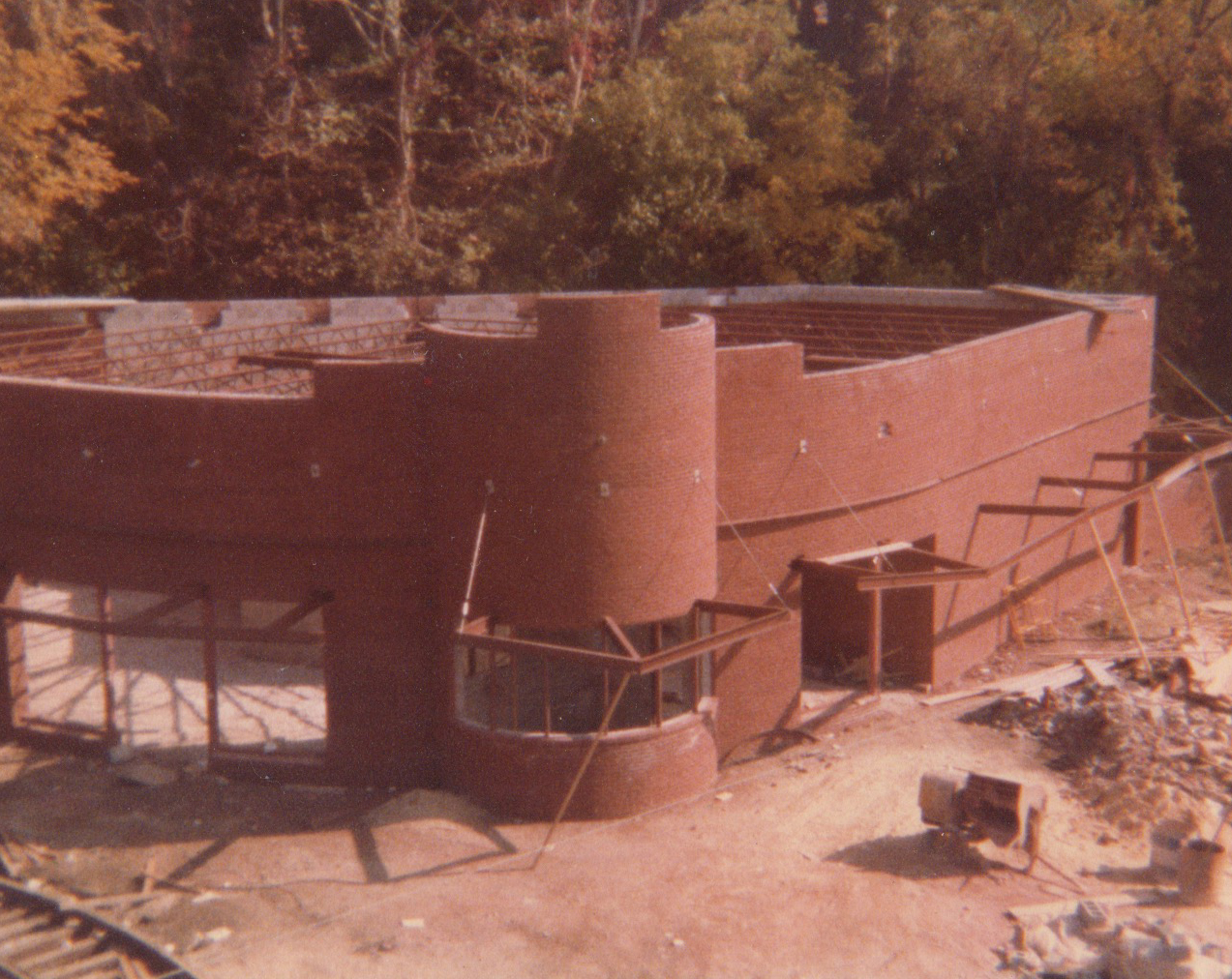 Construction progresses on BSM Visitors' Center, circa 1977. Image Credit: MRHL Archives