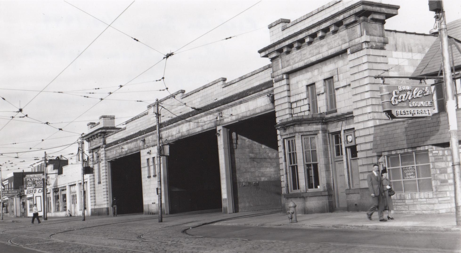 Image Credit: Davis Engleman, York Road Car House, Nov 1949