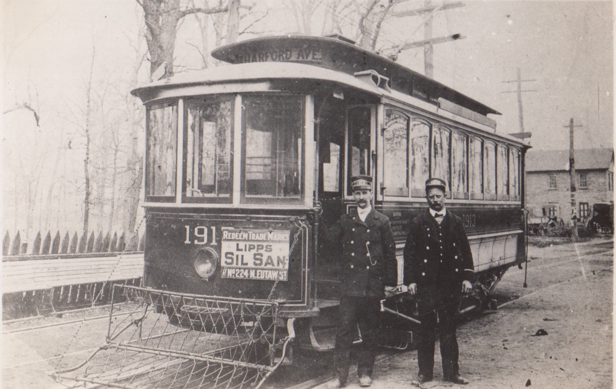 Image Credit: BSM Archives, Hartford Ave in 1902, the 19 line stopped at Montebello Waiting Shelter