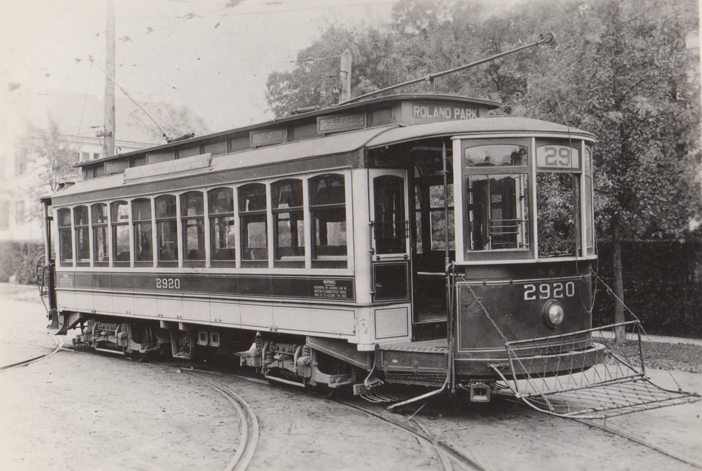 Image Credit: BSM Archive, the 29 line went to Overhill Waiting Station