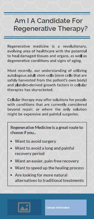 Rack Card - Am I a Candidate for Regenerative Therapy?