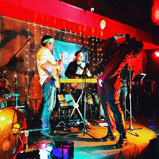 J Hacha and the SunDogs @fmjerseycity. We are doing it again @foxandcrowjc on May 4th. Be there and enjoy this madness! @jim.bell.4 @jdjnow @matt_schoenebaum @dave.deriso @chriskellybass @aleo_productions @jhachadezola @902brewing