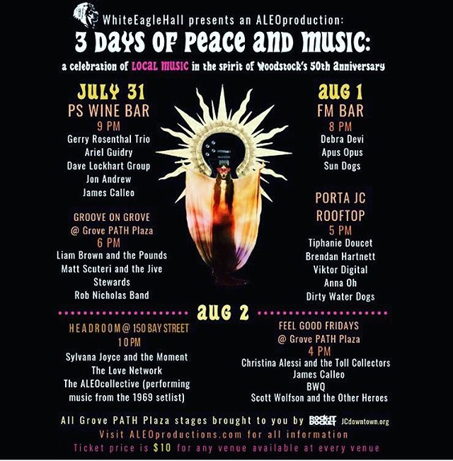 **ANNOUNCING VENUE CHANGE** Friday's finale will be held at @headroom_bar, main event 10p. $10 for all venues can be purchased at any door or Eventbrite - LINK IN PROFILE! #3daysofpeaceandmusic #aleoproductions #jerseycitymusicscene #hobokenmusicscene