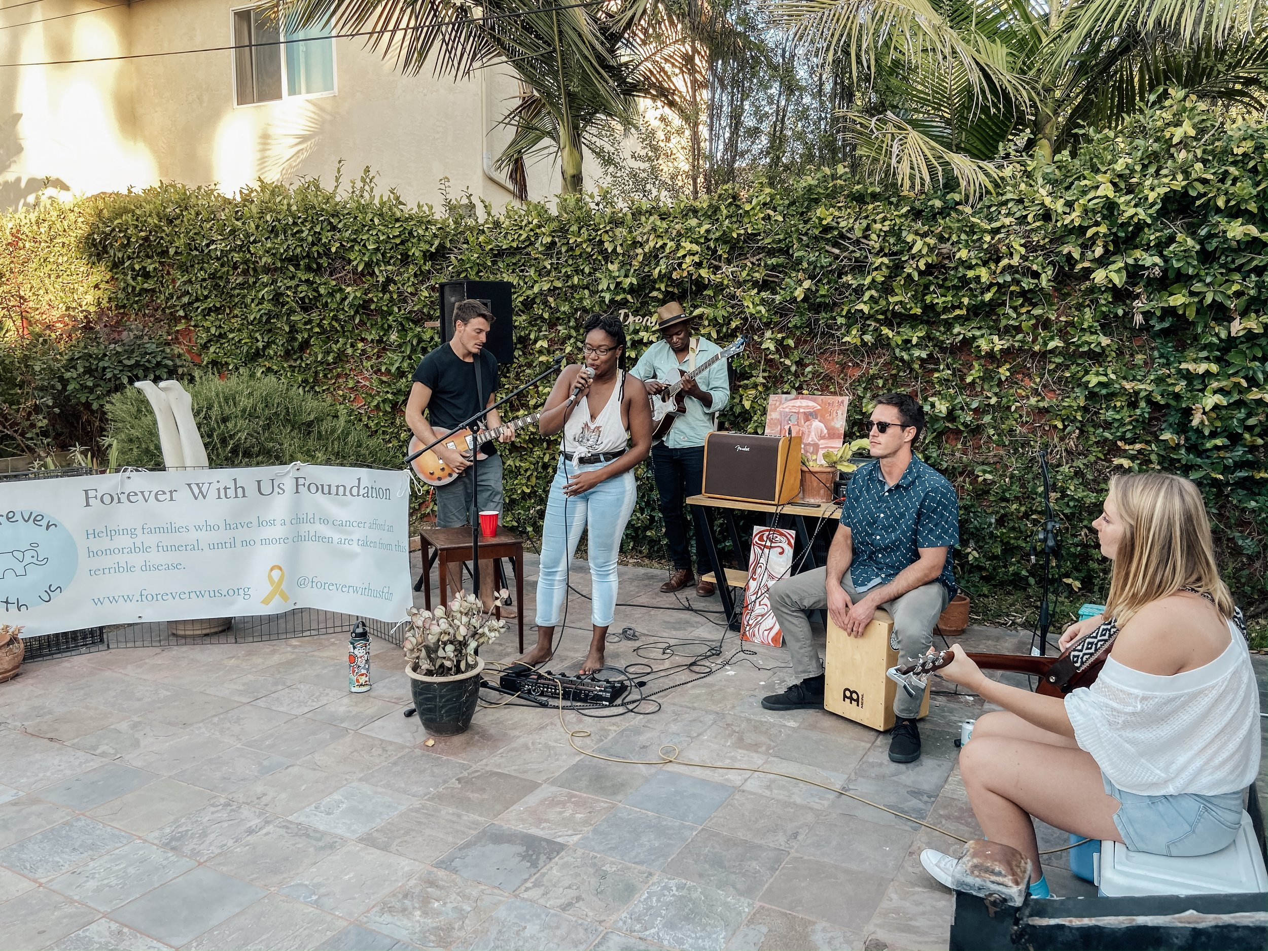 SD Music Event - 10/05/19This Saturday we held a live music fundraiser in Ocean Beach, San Diego! This amazing event had live performances by four incredible musicians and raised $474! Thank you so much to Jaclyn and everyone else who helped put this event on and attended.