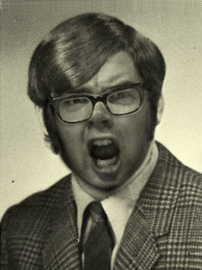"Michael O'Mannell Saunders - Alias: Crazy Old MickBorn: 1941 in Glasgow, Scotland, UKPicture taken: Fall of 1974 (faculty picture)What we know: In the 60s, Mick moved to the states from Scotland and became a high school English teacher in New Jersey. In the 70s he was dubbed ""Crazy Old Mick"" after throwing a blackboard at a student who called him Irish. He was later diagnosed severe Obsessive Compulsive Disorder, Turrets Syndrome, and Arthritis."