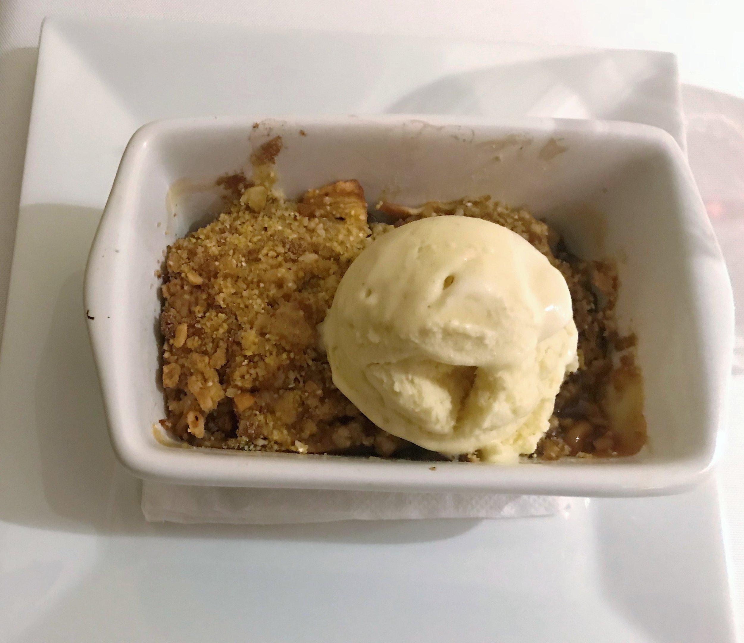 apple pear crisp, cinnamon ice cream.JPG