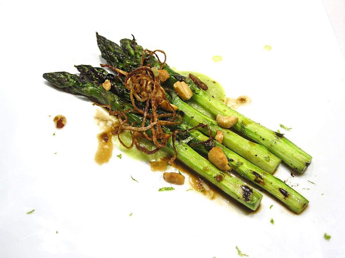 Griddled Asparagus, Crispy Shallots.JPG