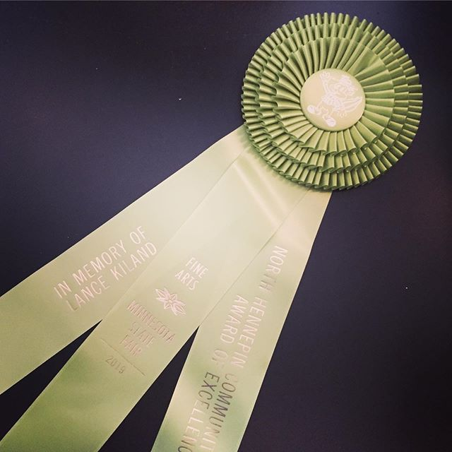 Honored to have received another one of these big ribbons! @mnstatefairfinearts @northhennepin @mnstatefair