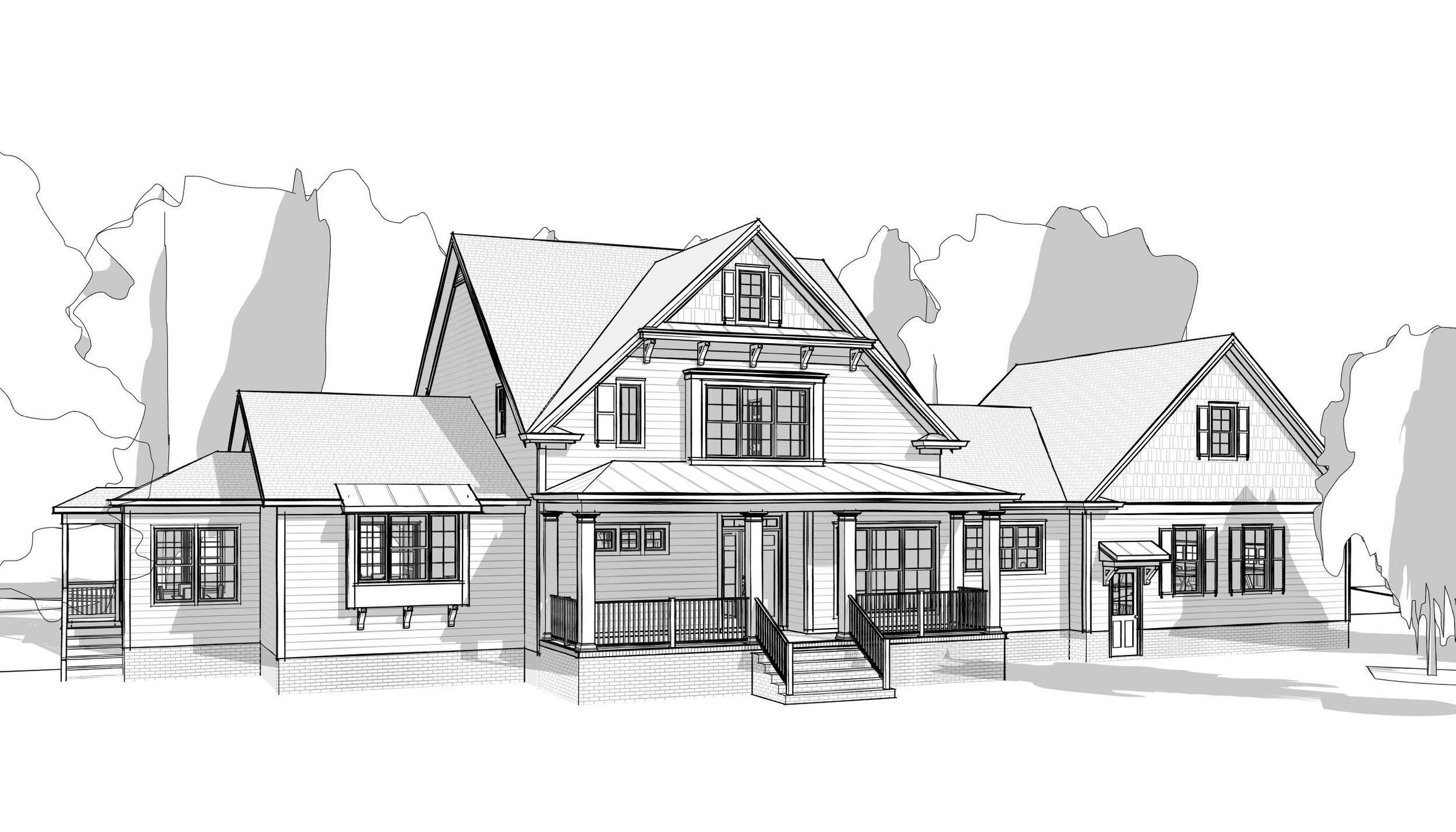 Contemporary Farmhouse in 3D