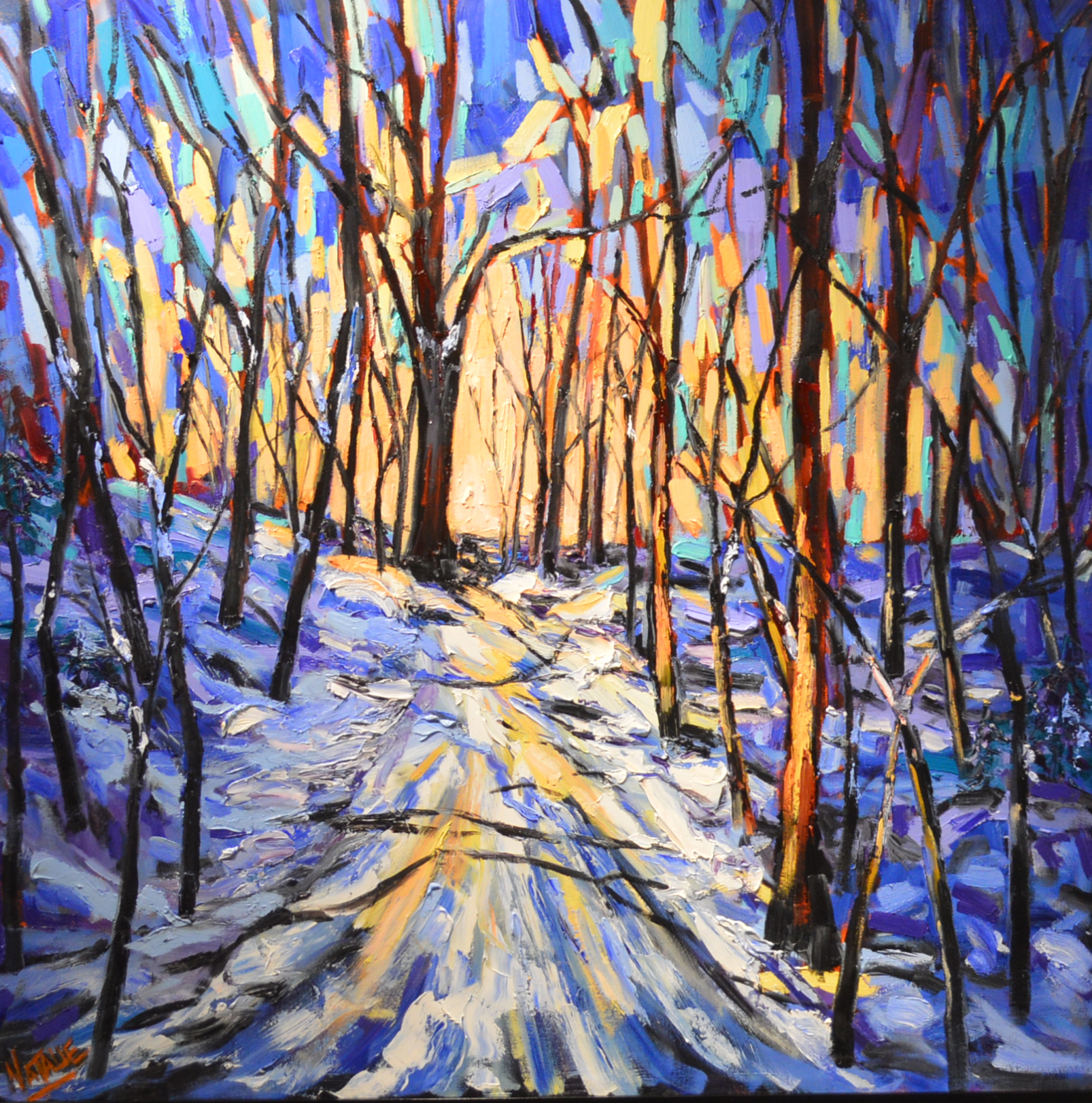 Country lane in Winter - $2000.00