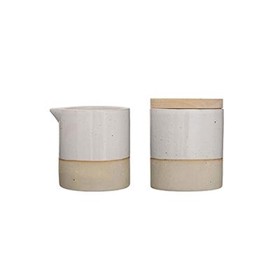 Ceramic Cream & Sugar Set