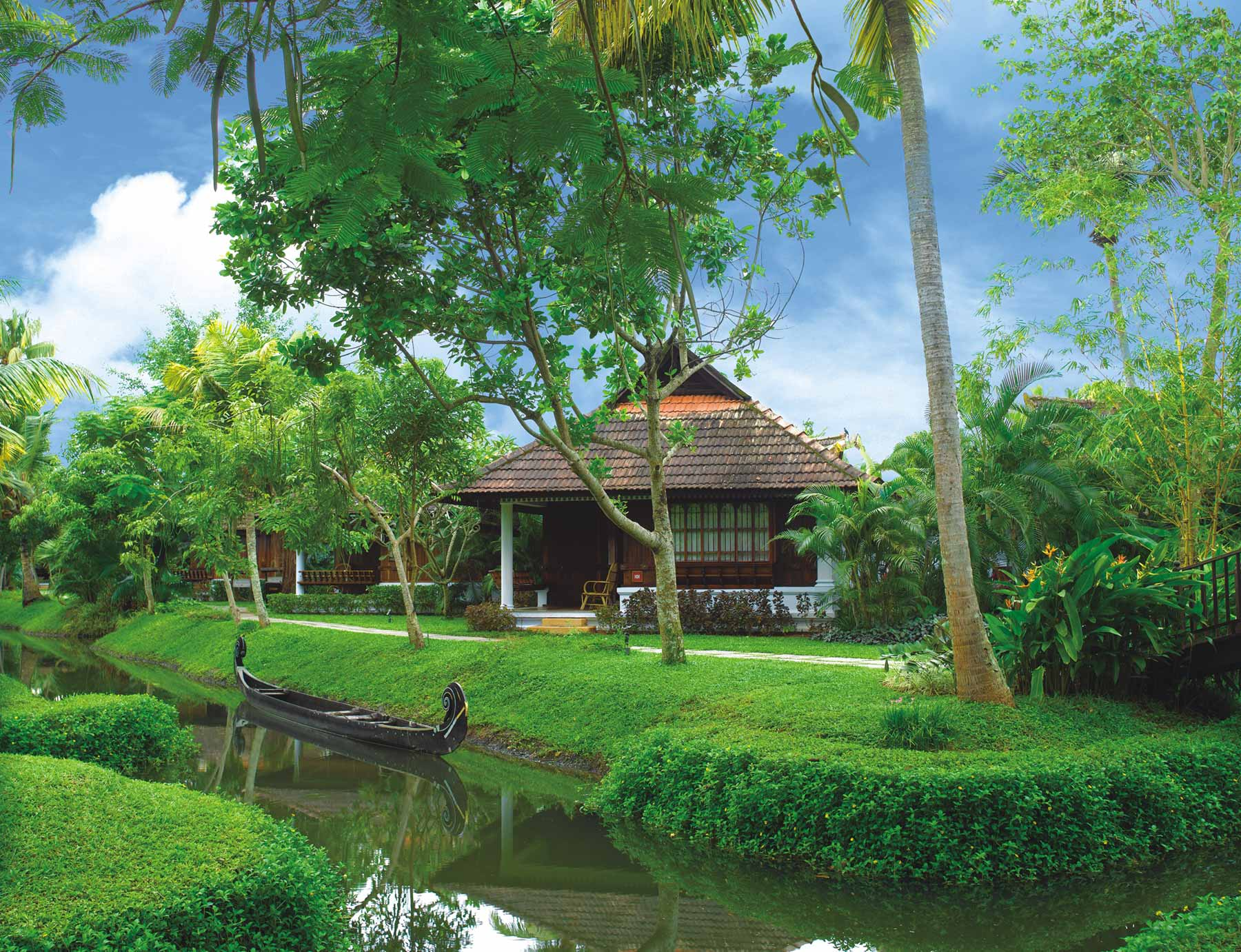 Kerala is blessed with lush greenery all year round.