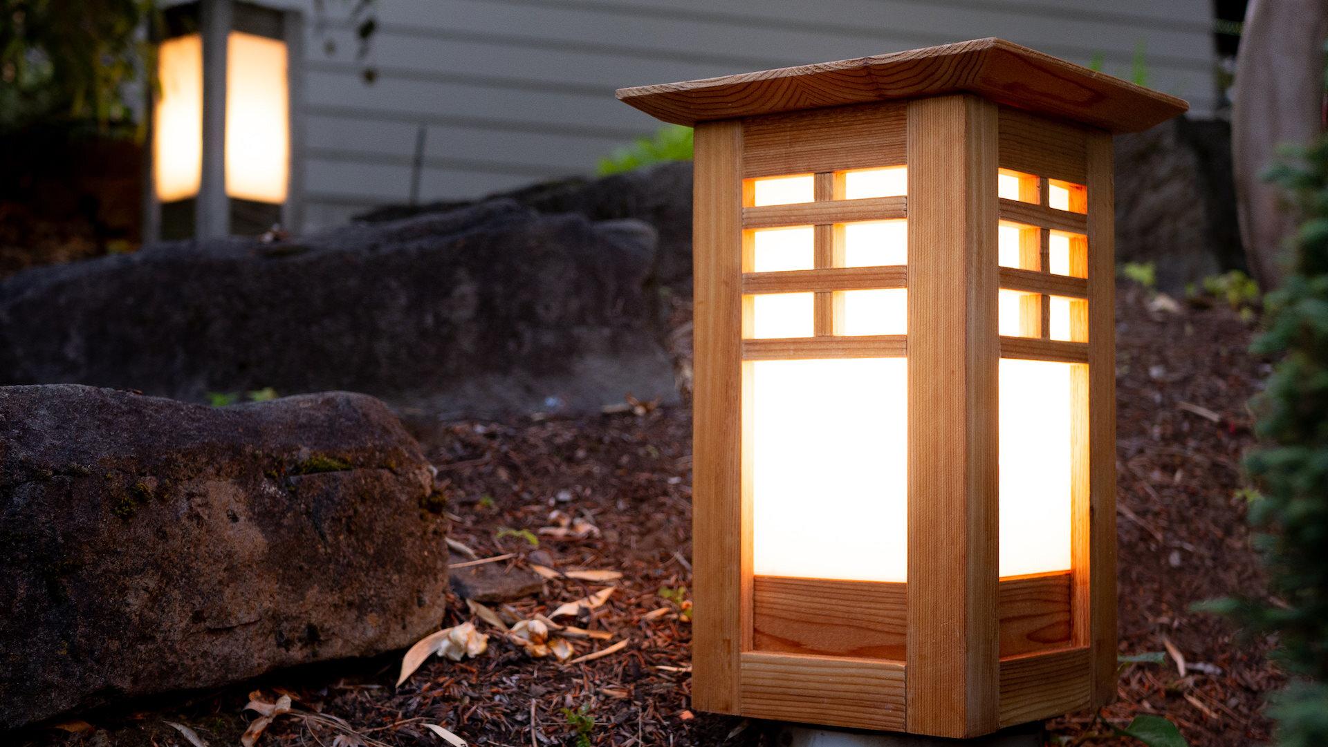 Garden Lights Outdoor Japanese Lantern Plans Craftswright