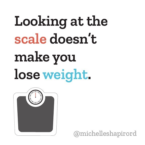 Your relationship with your scale matters. And what matters even more, is your relationship with yourself. Seeing an unpleasant number can make some of us feel completely worthless and depressed (isn't that wild to read?) •  The scale can be a saboteur to your weight loss efforts. And unknown to most people, physically staring at the scale does not make you lose weight ! •  If the scale is making you feel bad about yourself, find a way to stop using it. Hide it, throw it out, give it away. I had a client of mine LITERALLY hand her scale to me to hold for her. I'm becoming a storage unit for scales! •  Some people see a number, panic, and sabotage themselves as a result. We assign so much value to the numbers we see. They can make or break our days and self worth. The shame cycle we experience as a result of the scale usually causes derailed weight loss efforts anyway. •  Some studies show that more frequent weighing is correlated with weight loss. I would assume the people who are weighing themselves are also more likely to be engaging in lifestyle behaviors that enhance weight loss (the likelihood is high.) it is not the physical act of weighing that's making them lose weight. •  I have no generic advice for how often you should weigh yourself. It is HIGHLY subjective. So you can weigh yourself every day if it works for you. If it makes you feel awful, step away from the scale. What is the cost of weighing yourself everyday? •  #diet #dietculture #bodypositive #dietitian #wellness #weight #dieting #mentalhealth #weightloss #weightlossjourney #scale #fitness #fitfam #happiness #nycdietitian #Transformationtuesday #recovery  #transformationtuesday #happiness #nyc #selflove #inspiration #biohack #mindfuleating #mindfulness #meditation