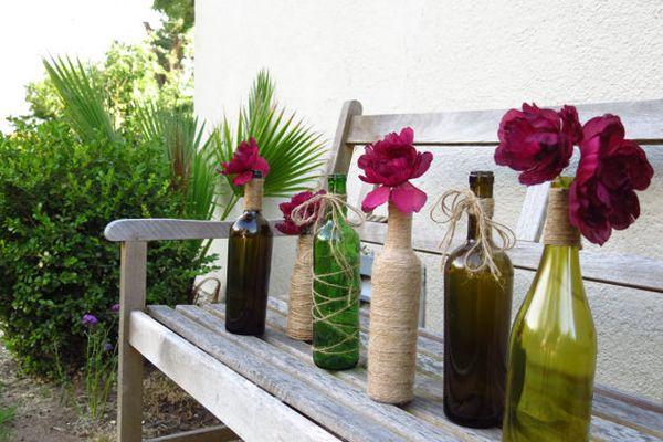 For more wine bottle flower vase ideas click  here.